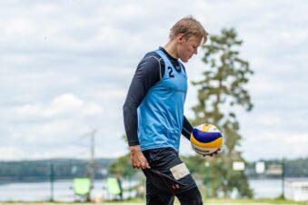 Lempon Kasper Pennanen mukana beach volleyn SM-finaaleissa Tampereella
